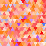 Orange vector seamless pattern with triangles. Abstract background. Stock Photography