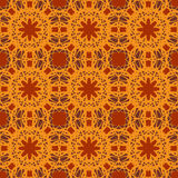 Orange vector seamless patterns, tiling. Geometric ornaments. Stock Images