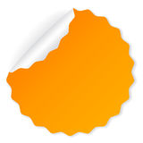 Orange vector sticker Royalty Free Stock Images