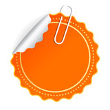 Orange vector sticker Royalty Free Stock Photography