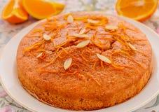 Orange vegan cake Stock Images