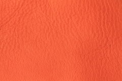 Orange vegetable tanned leather background texture Stock Image