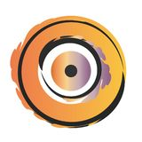 Orange vektor f?r ont ?ga stock illustrationer