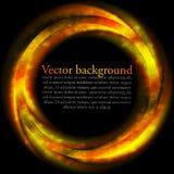 Orange vektorcirkel på svart bakgrund Arkivbild