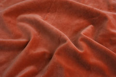 Orange velvet fabric stock photo