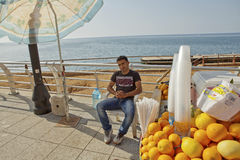 Orange vendor, Beirut Stock Image