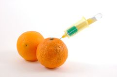Orange venipunture set Royalty Free Stock Photo