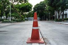 Orange Verkehrskegel Lizenzfreie Stockbilder