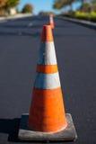 Orange Verkehrskegel Stockbilder