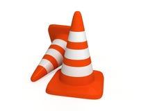 Orange Verkehrsschilder Lizenzfreies Stockfoto