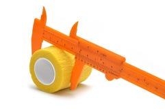 Orange vernier caliper Royalty Free Stock Photography