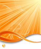 Orange vertical ray background Stock Photos
