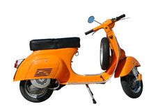orange vespa Royaltyfri Bild
