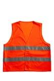 Orange vest. A orange vest isolated on a white background royalty free stock photo