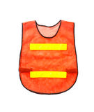 Orange vest, isolated on white and clipping path. Stock Photos
