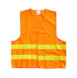 Orange vest. Safety orange vest isolated on a white background stock photography