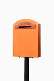 Orange vintage mailbox Royalty Free Stock Image