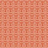 Orange vintage Paisley damask wallpaper. Orange vintage floral damask wallpaper - seamless repeat pattern stock illustration