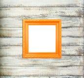 Orange Vintage picture frame Royalty Free Stock Image