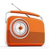 Orange vintage radio. On white background royalty free illustration