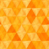 Orange vintage textile triangles seamless pattern Royalty Free Stock Images