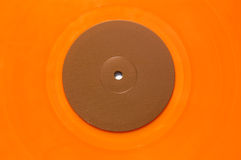 Orange Vinylmusiksatz Stockfoto