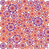 orange and violet shapes background Stock Photo