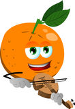 Orange with violin Royalty Free Stock Image