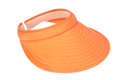 Orange visor Stock Image
