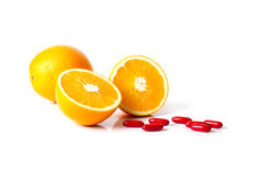 Orange and Vitamin C. For healthy eating Stock Image