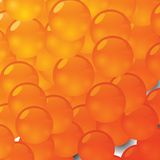 Orange vitamins Stock Image