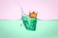 Orange Vodka Stock Photography