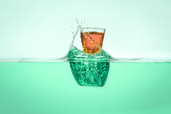Orange Vodka Royalty Free Stock Image
