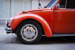 Orange Volkswagen beetle. Royalty Free Stock Photography