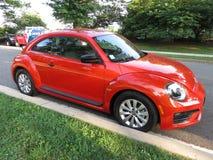 Orange Volkswagen Beetle Turbo Stockfotos
