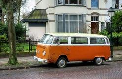 Orange Volkswagen van Stock Image