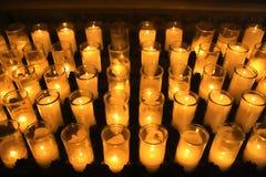 Orange votive candles Stock Photo