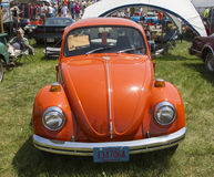 1971 Orange VW Beetle Front View Stock Image