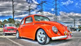 Orange VW Beetle Stock Photos
