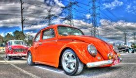 Orange VW Beetle Stock Photos