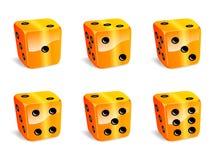Orange würfelt Stockbild