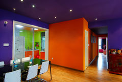 Orange wall. It's Chinese style modern parlor Royalty Free Stock Photos