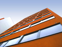 Orange wall 2. Orange wall of a modern dormitory building in Tartu, Estonia Royalty Free Stock Photography