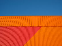 Orange wall Stock Photos