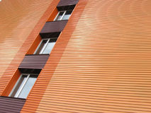 Orange wall. With plastic window Stock Photo