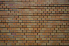 Orange wall brick background in Japan Royalty Free Stock Images