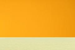 Orange wall empty room Stock Photo