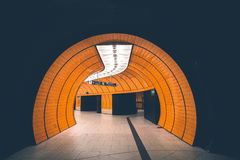 Orange Wall Inside the Building Stock Photography