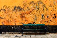 Orange wall Stock Image