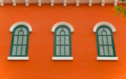 Orange Wand Stockfotos